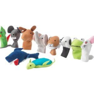 ของเล่นเด็ก - ตุ๊กตานิ้วผ้ารูปสัตว์ คละสี 10ชิ้น