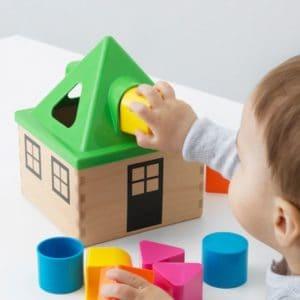 ของเล่นเด็ก - บล็อคหยอด บ้าน หลากสี 1 ชุด2