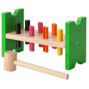 ของเล่นเด็ก - ฝึกตอกแท่งไม้ หลากสี