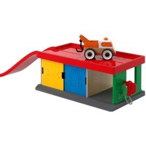ของเล่นเด็ก - โรงจอดรถพร้อมรถลาก 1 คัน