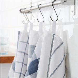 ของใช้คุณแม่ - ผ้าเช็ดอเนกประสงค์ 4 ชิ้น สีขาว-น้ำเงิน 50x65