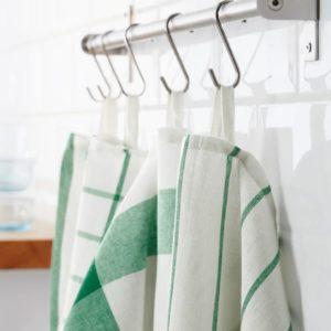 ของใช้คุณแม่ - ผ้าเช็ดอเนกประสงค์ 4 ชิ้น สีขาว-เขียว 50x65