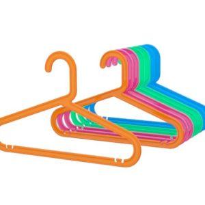 ของใช้คุณแม่ - ไม้แขวนเสื้อเด็ก คละสี กว้าง 30 ซม. 8 ชิ้น
