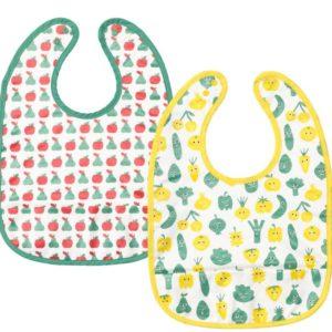 อุปกรณ์อาหารเด็ก - ผ้ากันเปื้อน ลายผัก ผลไม้ 2 ชิ้น